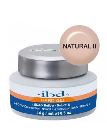 IBD Hard Gel LED/UV Builder Gel - Natural II (tirštas natūralus gelis) 14g