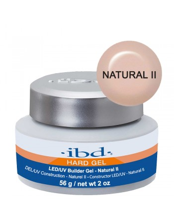 IBD Hard Gel LED/UV Builder Gel - Natural II (Tirštas natūralus gelis) 56g